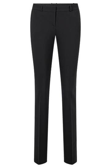Boss Straight-leg business trousers in stretch wool