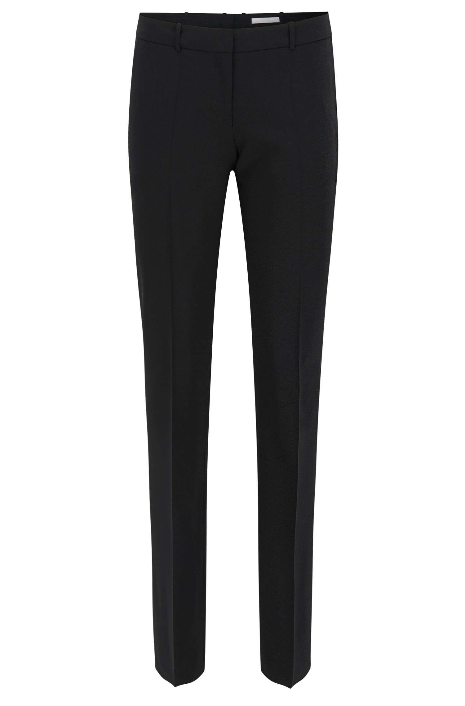 Pantaloni business straight cut in lana elasticizzata
