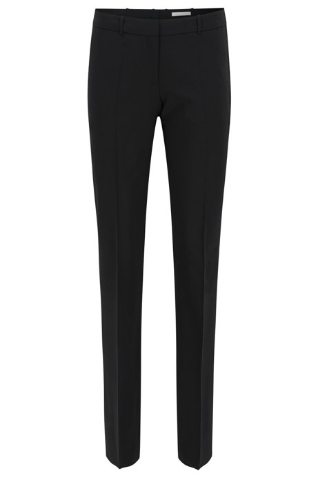 Straight-leg business trousers in stretch wool BOSS QnPe6R