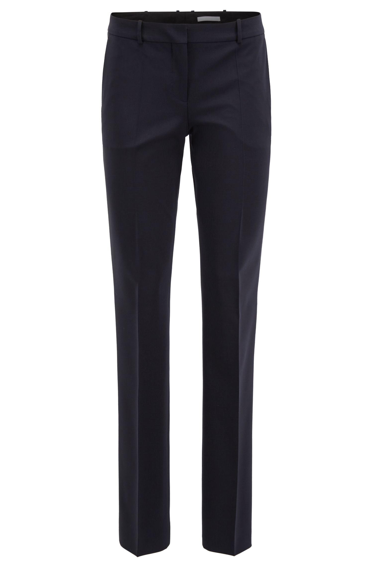 Pantalon business coupe droite en laine stretch