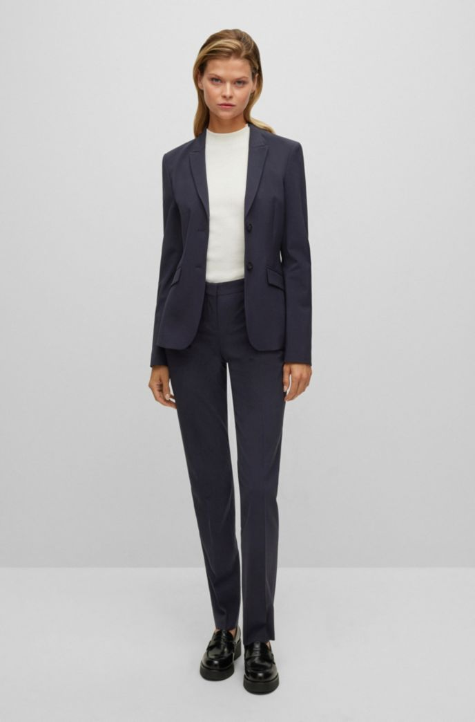Regular-fit trousers in Italian stretch virgin wool