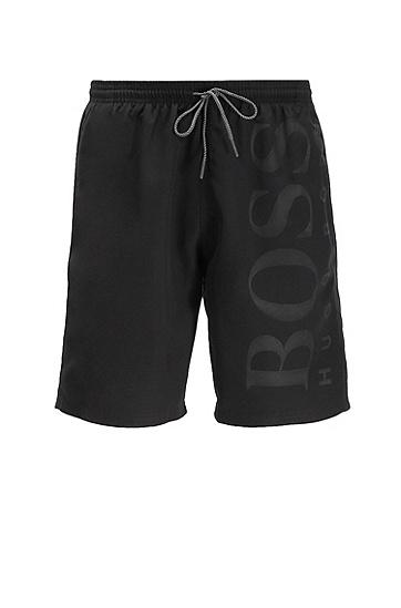 拉绳腰带泳裤,  007_黑色