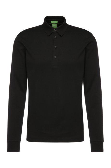 d6067a7d0 BOSS - Regular-fit long-sleeved polo shirt in cotton   C-Paderna 30