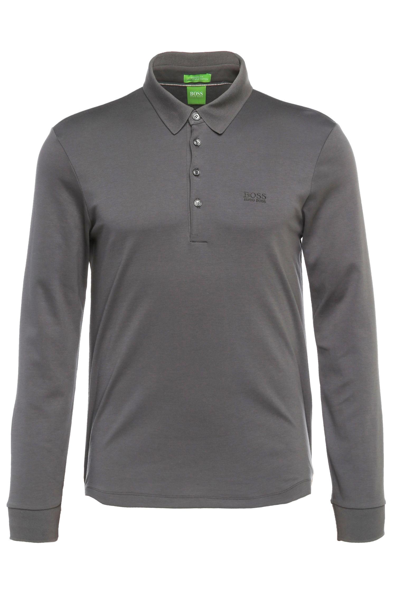 Regular-Fit Langarm-Polo aus Baumwolle: ´C-Paderna 30`