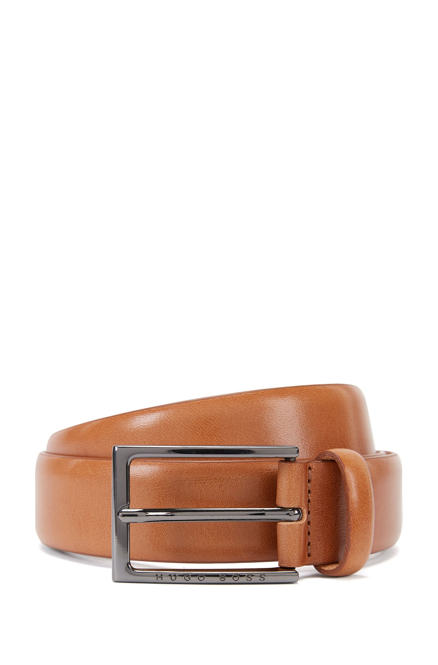 Vegetable-tanned leather belt