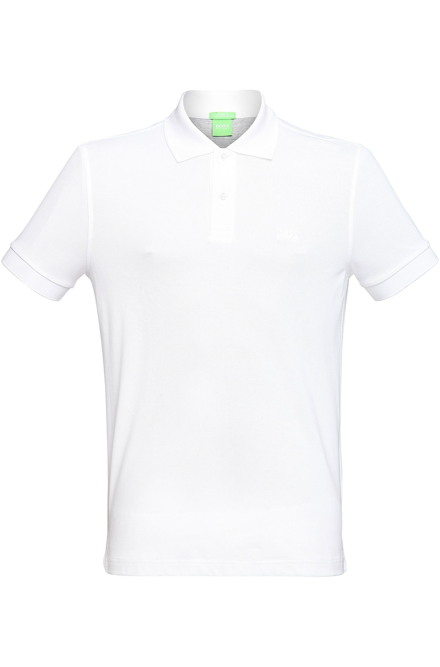 Regular-Fit Poloshirt aus Piqué mit Ton-in-Ton-Details