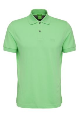 Polo regular fit de piqué con detalles tonales de BOSS Green, Verde