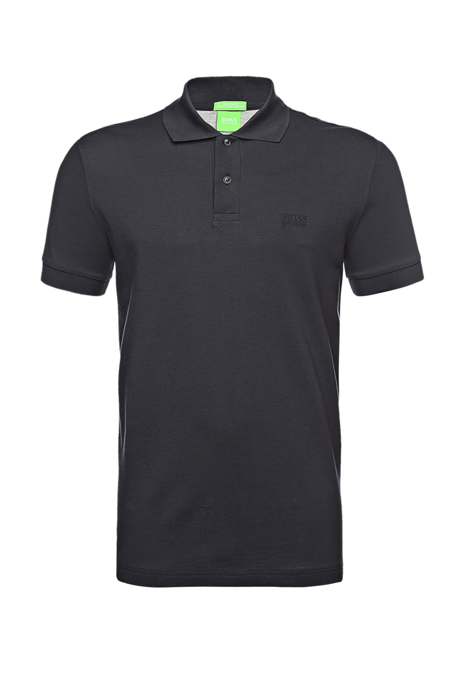 Polo regular fit in piqué con dettagli tono su tono by BOSS Green