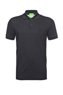 Regular-fit piqué polo shirt with tonal details, Dark Blue