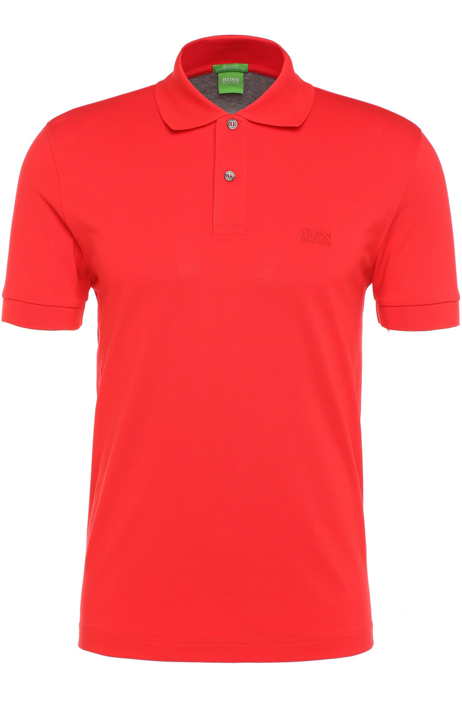 Polo regular fit de piqué con detalles tonales de BOSS Green