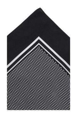 Einstecktuch ´Pocket sq. cm 33 x 33` aus Seide, Schwarz