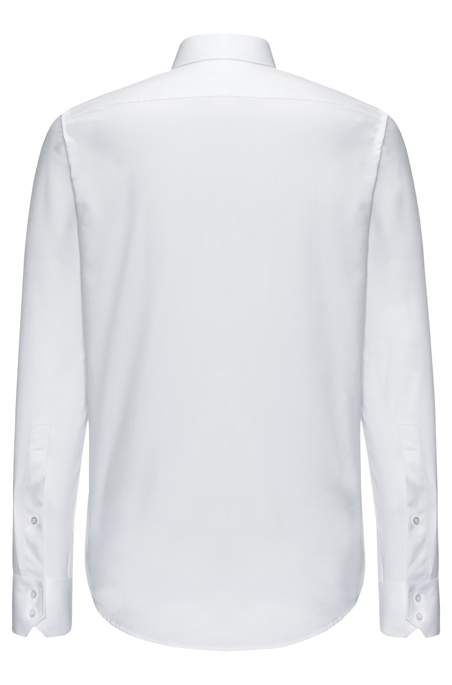 Chemise Regular Fit en pur coton, Blanc