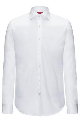 Camisa regular fit en puro algodón, Blanco