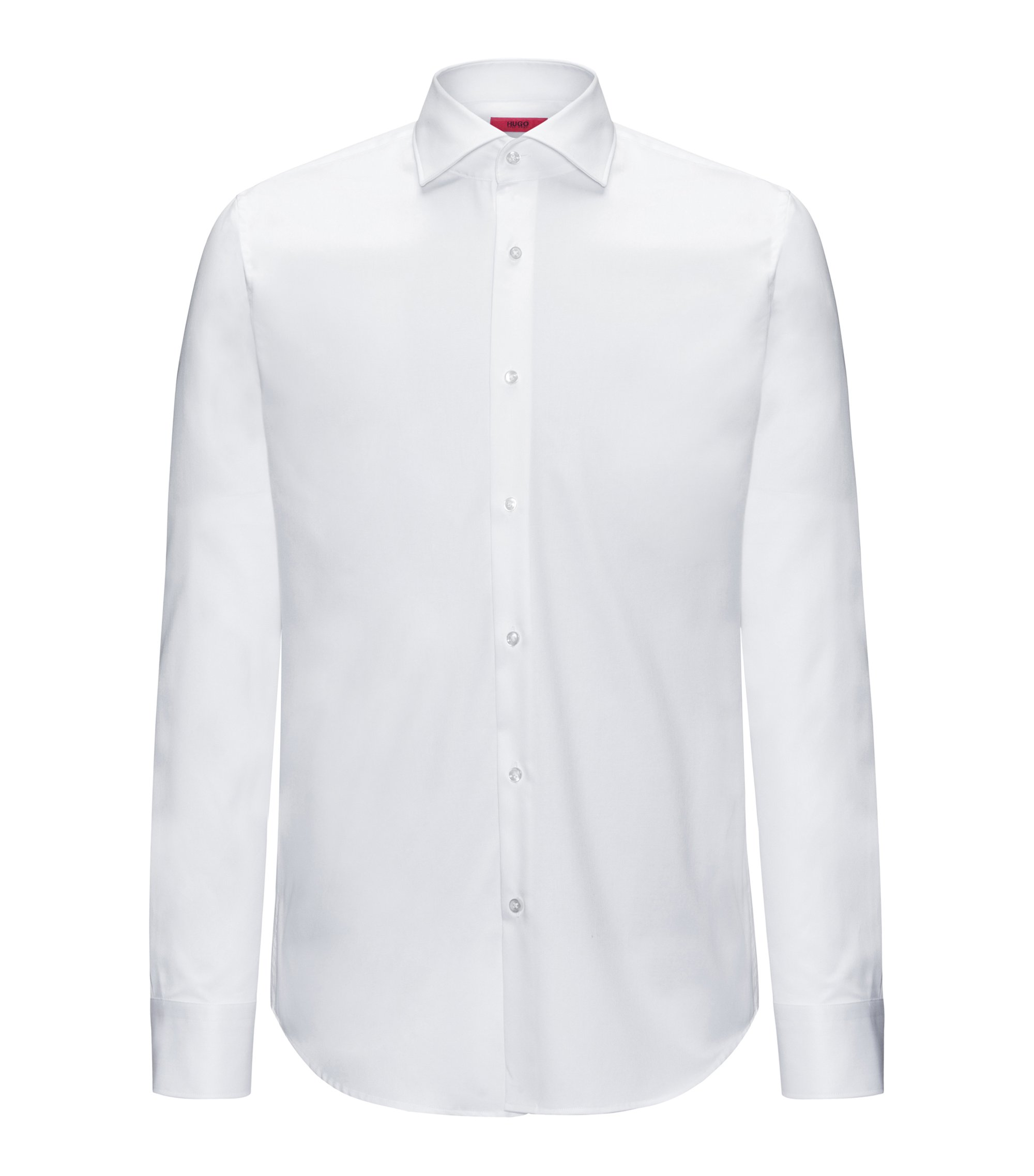 Regular-fit shirt in pure cotton, White