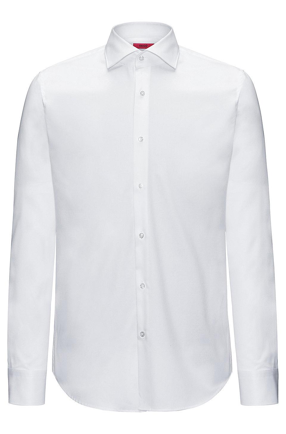 b79aabd2 HUGO - Regular-fit shirt in pure cotton