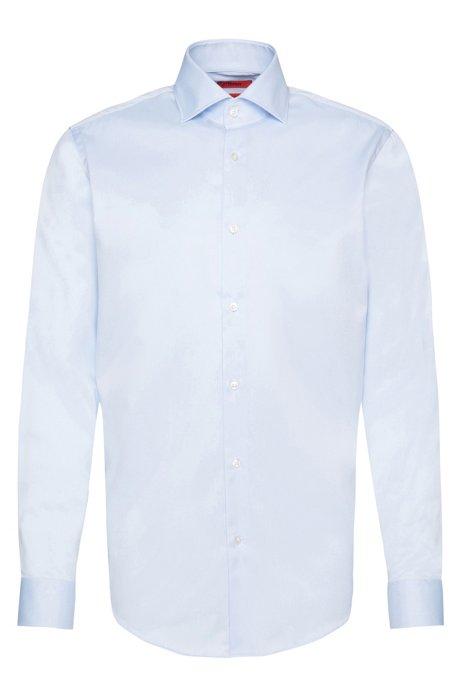 Regular-fit shirt in pure cotton, Light Blue