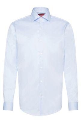 Regular-Fit Hemd aus reiner Baumwolle, Hellblau