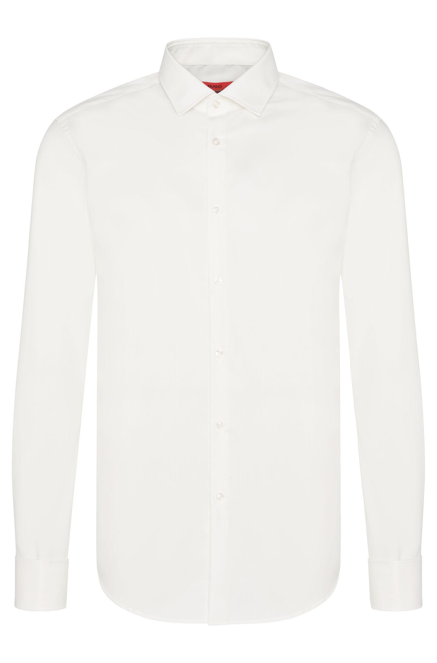 Slim-Fit Hemd mit Umschlagmanschetten