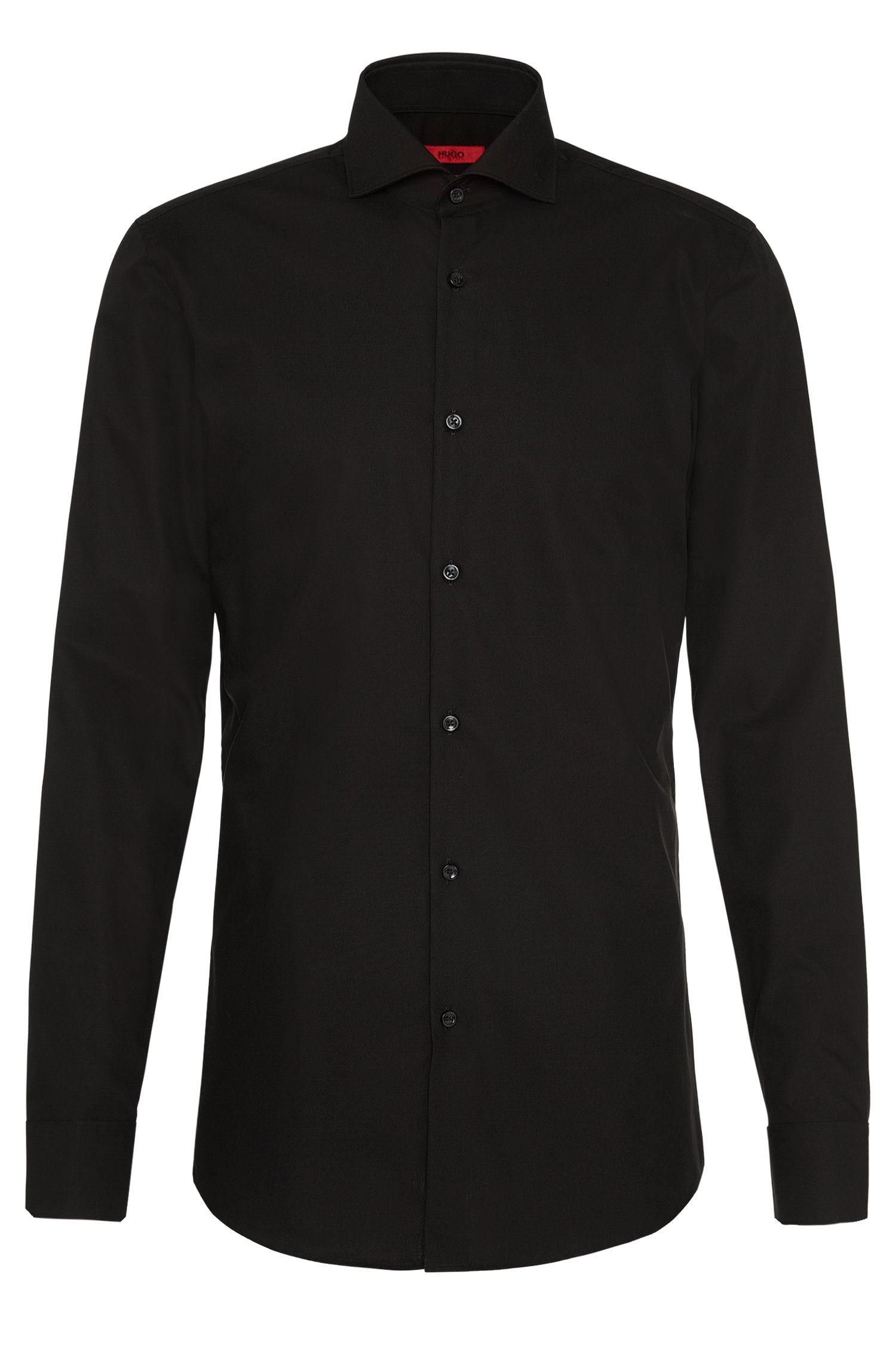 Slim-Fit Hemd aus Baumwolle mit Ärmeln mit Überlänge