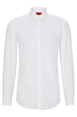 43cf6966cc Camicia slim fit in cotone con maniche molto lunghe