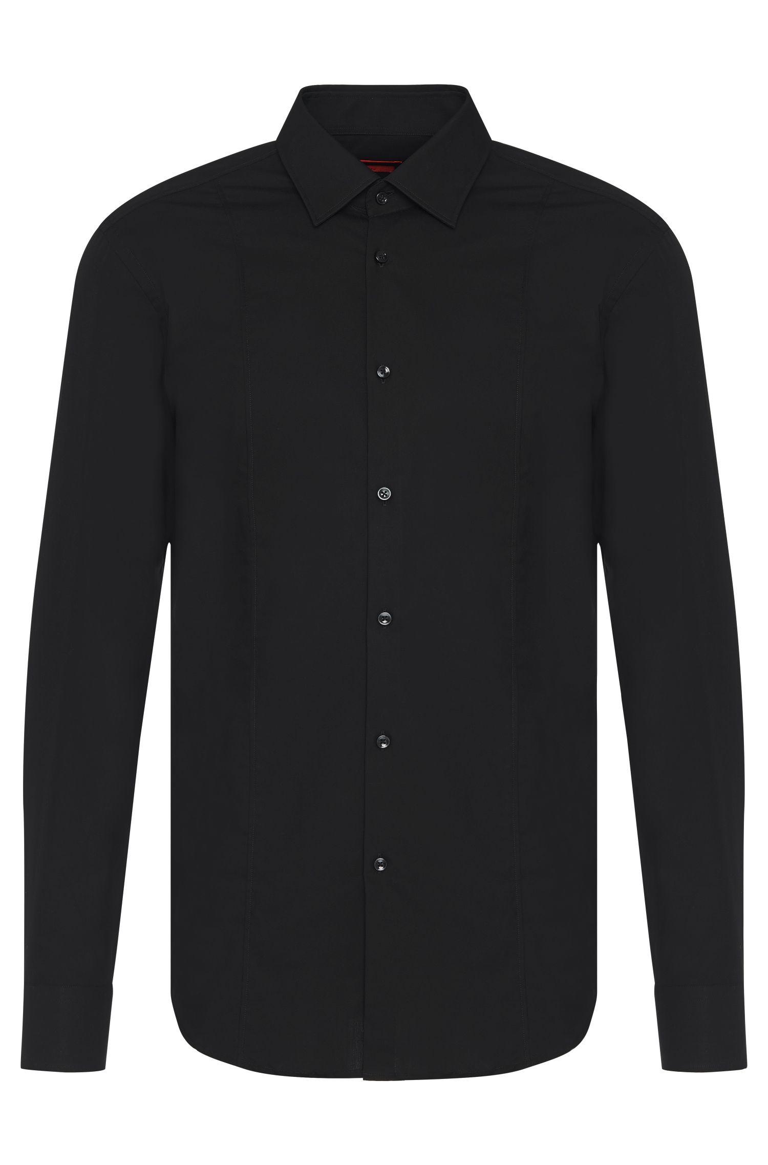 Slim-fit overhemd van katoen met zoomdetail