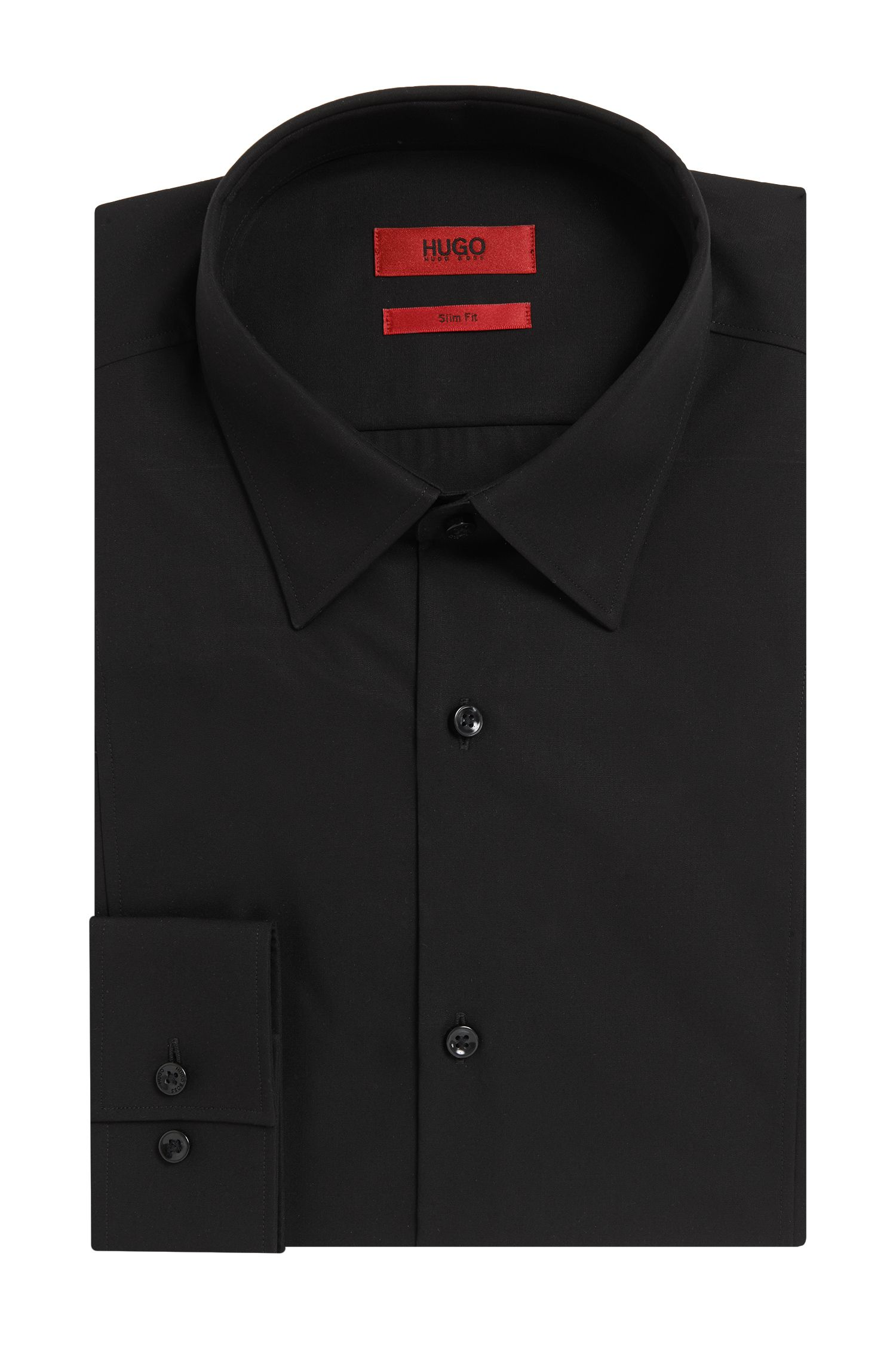 Slim-fit cotton shirt with seam detail