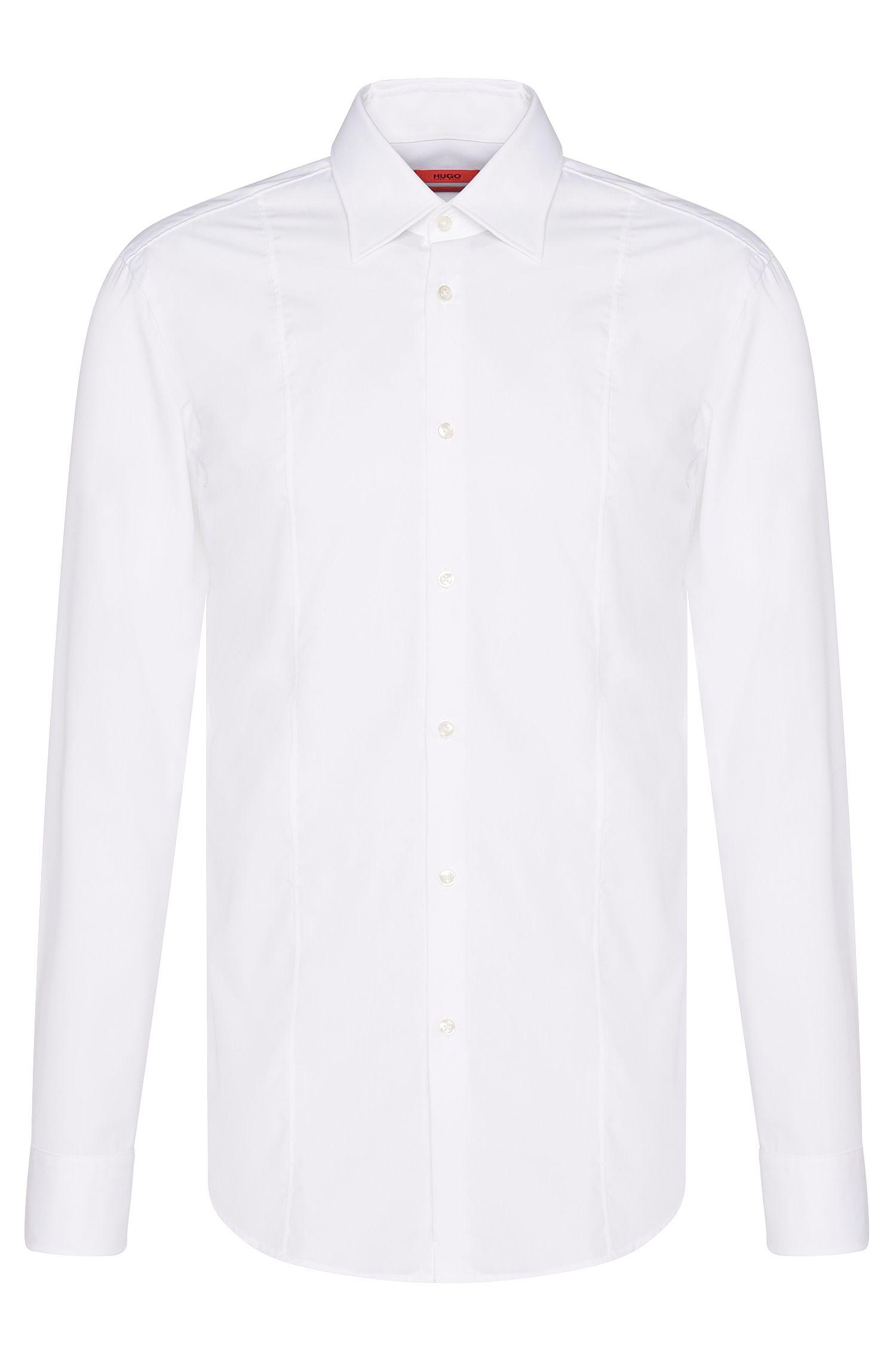 Chemise Slim Fit en coton ornée d'une couture