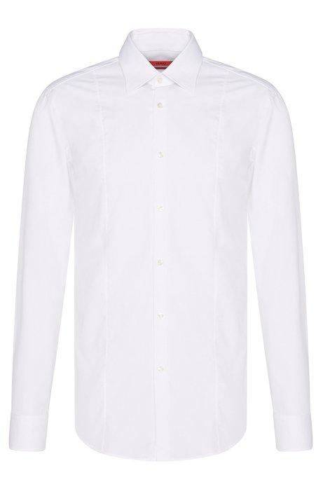Slim-Fit Baumwollhemd mit Naht-Detail , Weiß