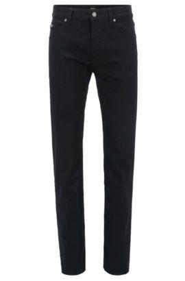 Jeans regular fit in misto cotone elasticizzato: 'C-Maine1', Nero