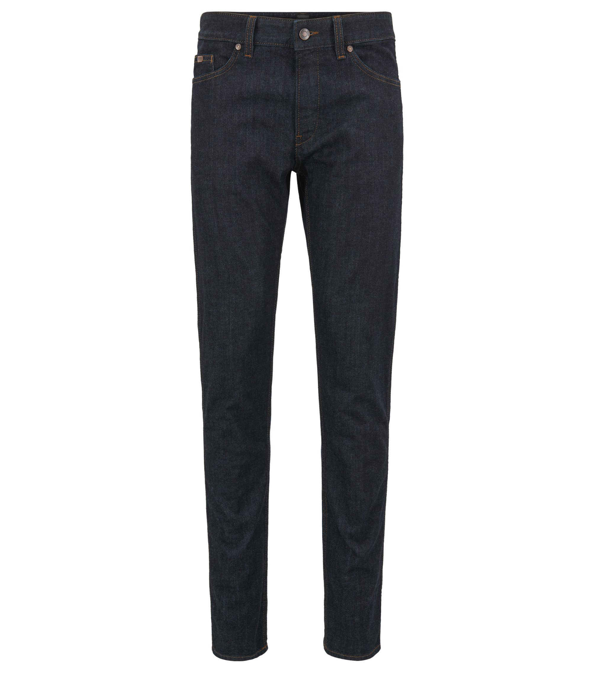 Slim-fit jeans in stretch cotton: 'C-DELAWARE1', Dark Blue