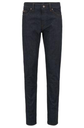 Jeans Slim Fit en coton stretch: «C-DELAWARE1», Bleu foncé