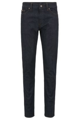 Slim-Fit Jeans aus Stretch-Baumwolle: ´C-DELAWARE1`, Dunkelblau