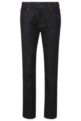 Regular-fit jeans van een elastische katoenmix: 'C-Maine1', Donkerblauw