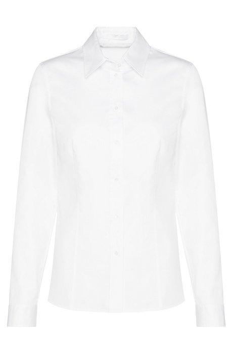Slim-fit zakelijk overhemd , Wit