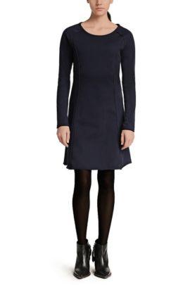 A-Linien Kleid aus Sweatstoff: ´Derzip`, Dunkelblau