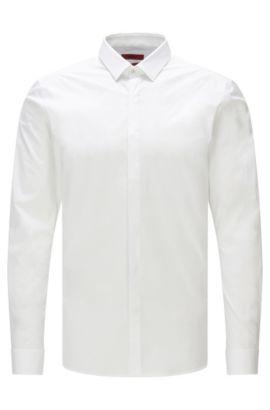 Extra Slim-Fit Hemd aus Stretch-Baumwolle , Weiß