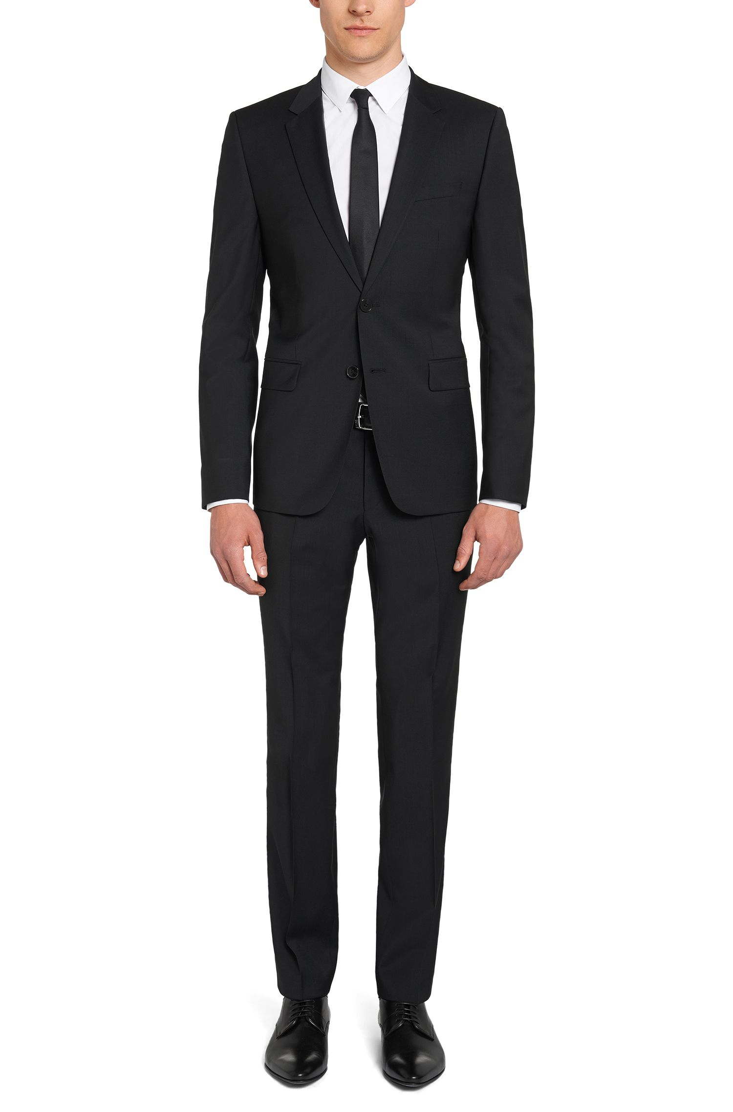Slim-Fit Hose aus Schurwolle von HUGO Man