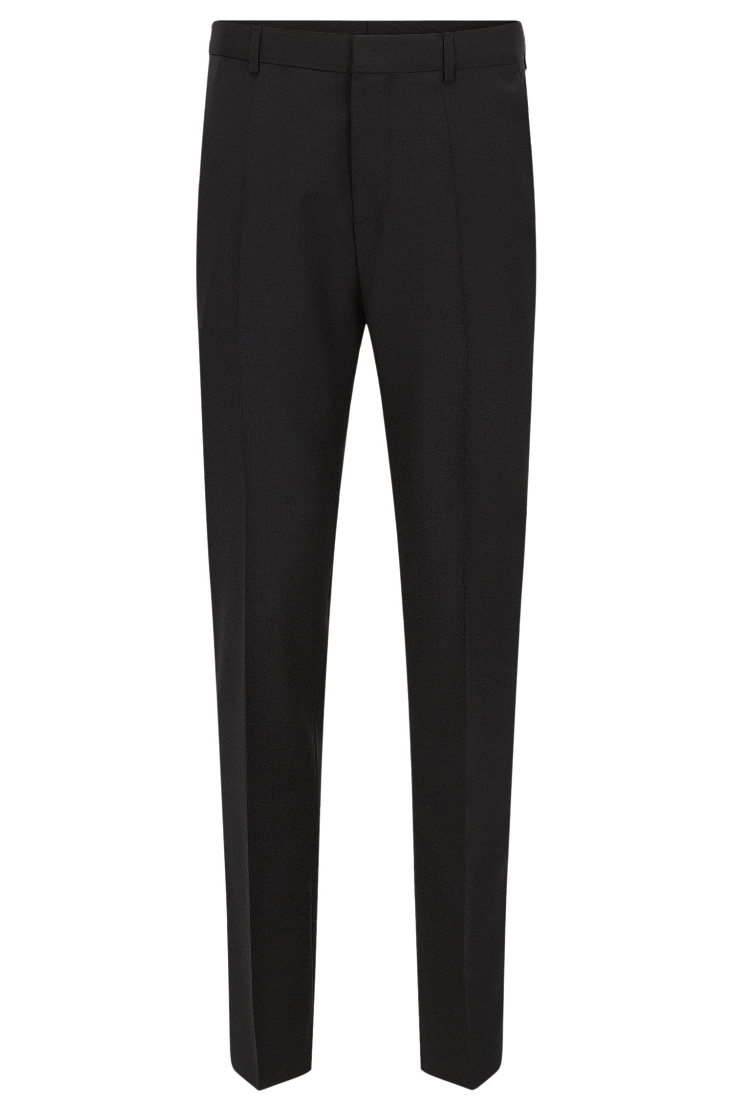 Slim-leg trousers in virgin wool by HUGO Man