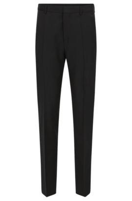 Pantalon à jambes slim en laine vierge HUGO Homme , Noir
