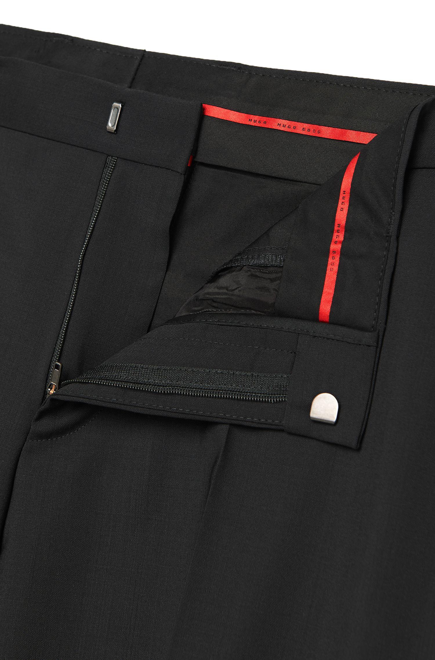 Pantalones de pierna ajustada en lana virgen de HUGO Hombre
