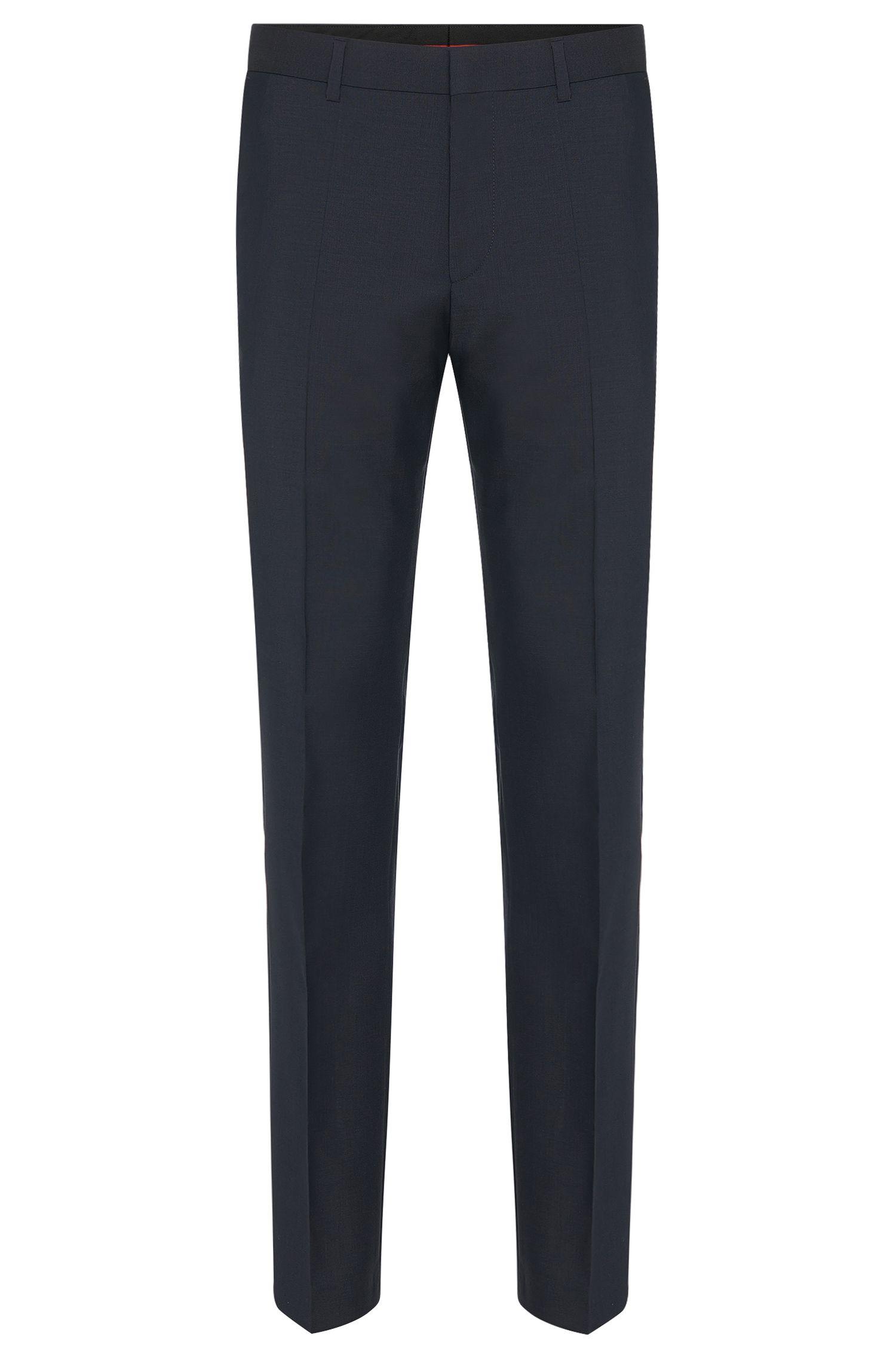 Pantalon à jambes slim en laine vierge HUGO Homme