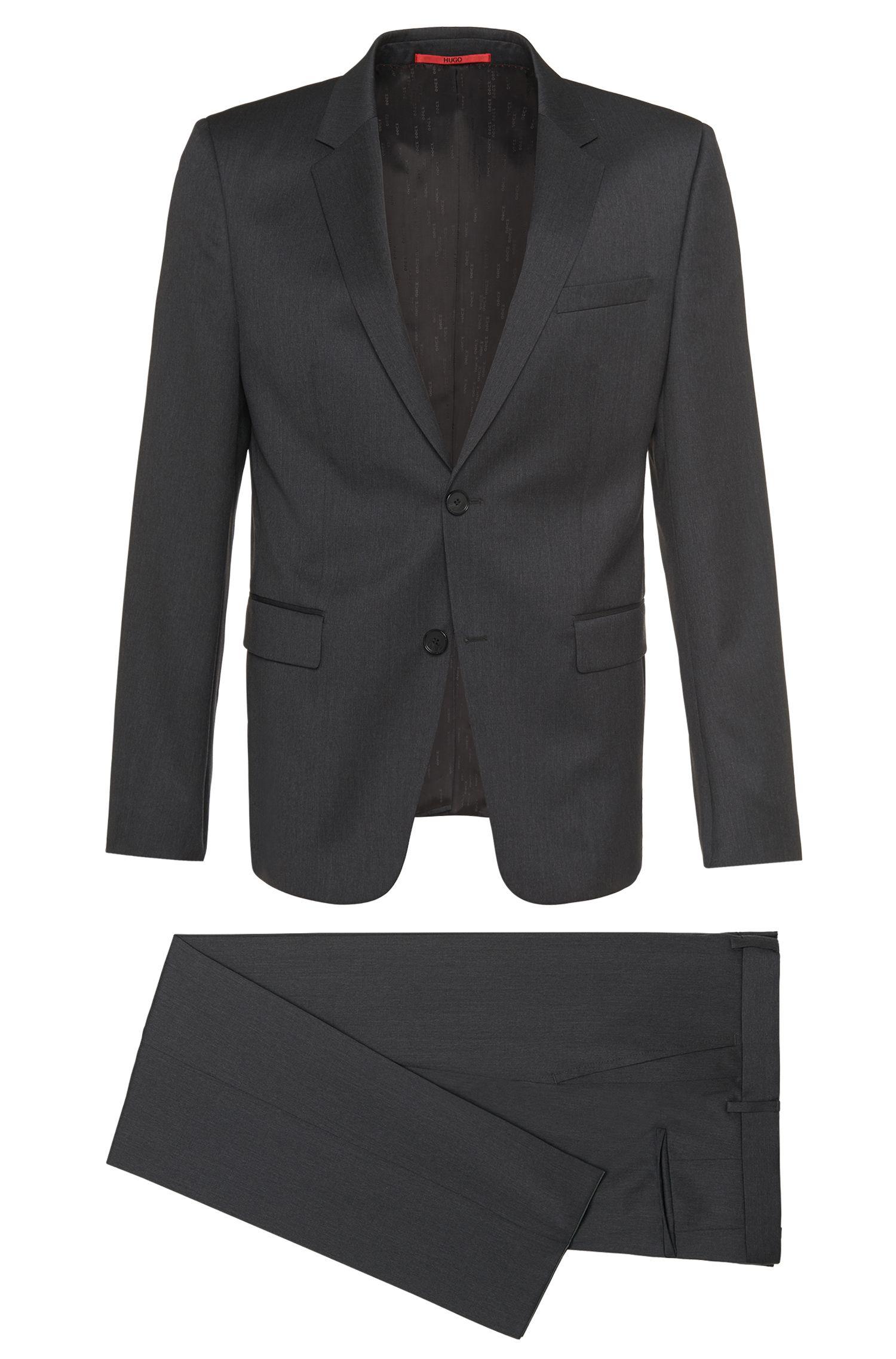 Slim-fit kostuum van scheerwol: 'Aeron2/Hamen2'