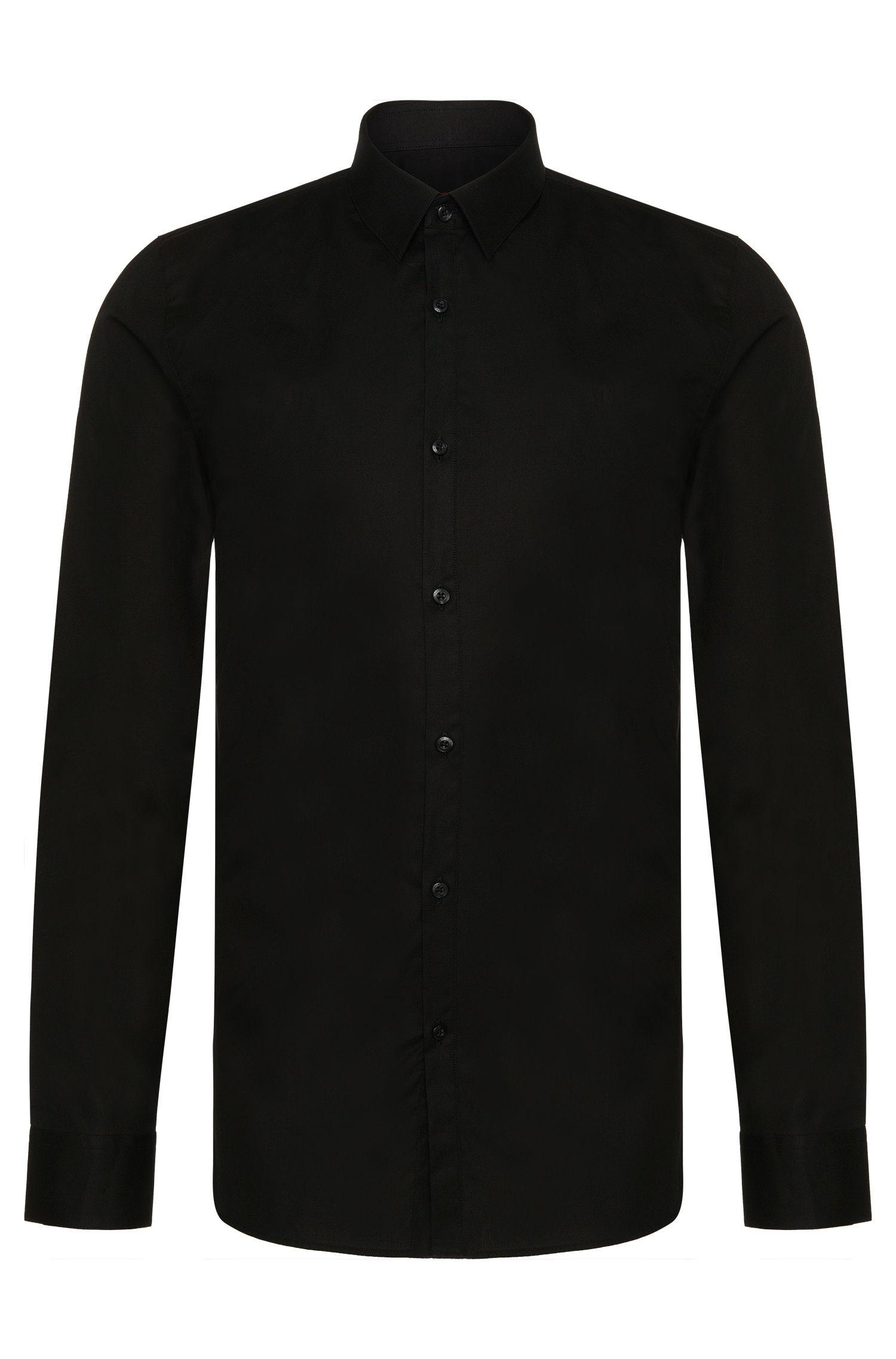 Slim-fit shirt in stretch-cotton poplin HUGO BOSS