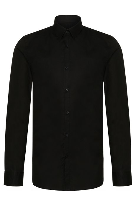 ea4e2b0ee HUGO - Extra-slim-fit shirt in stretch-cotton poplin