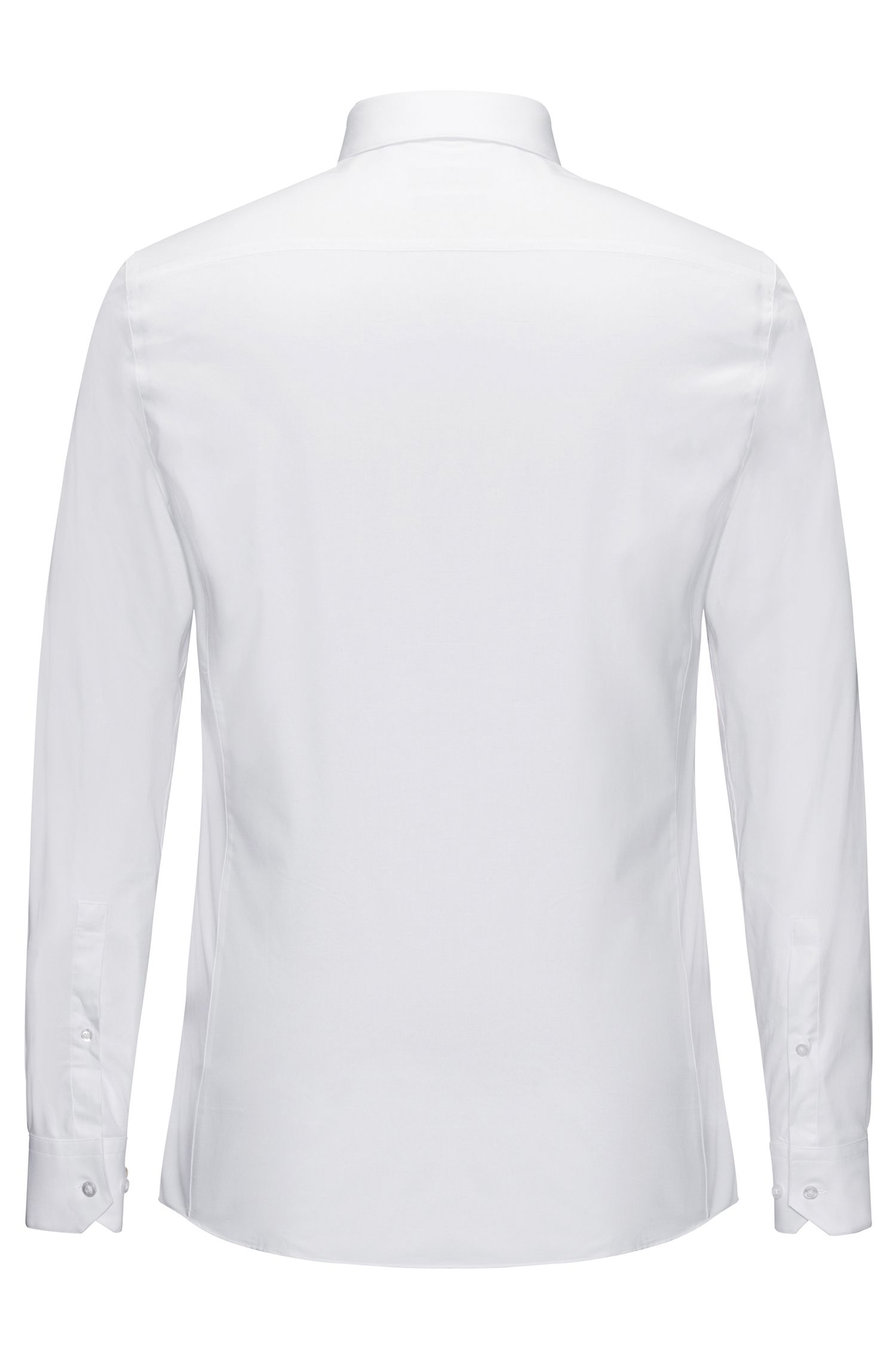 Extra-slim-fit shirt in stretch-cotton poplin , White