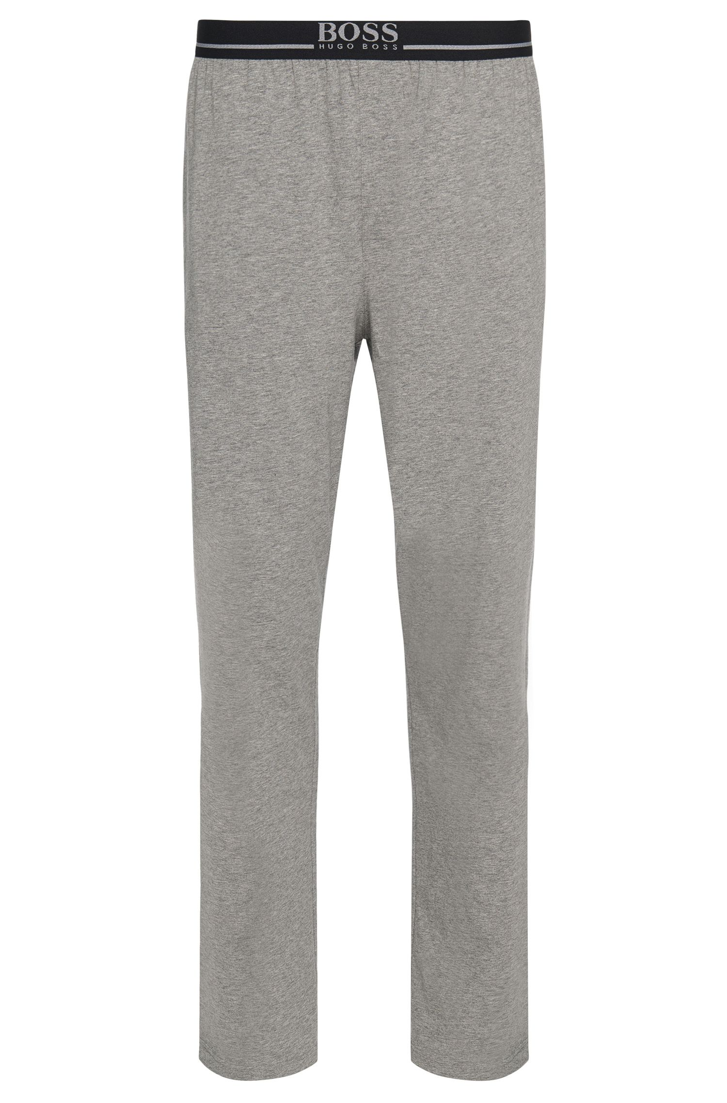 Loungewear trousers in stretch cotton jersey , Grey