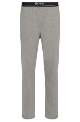 Loungewear trousers in stretch cotton jersey , Grey
