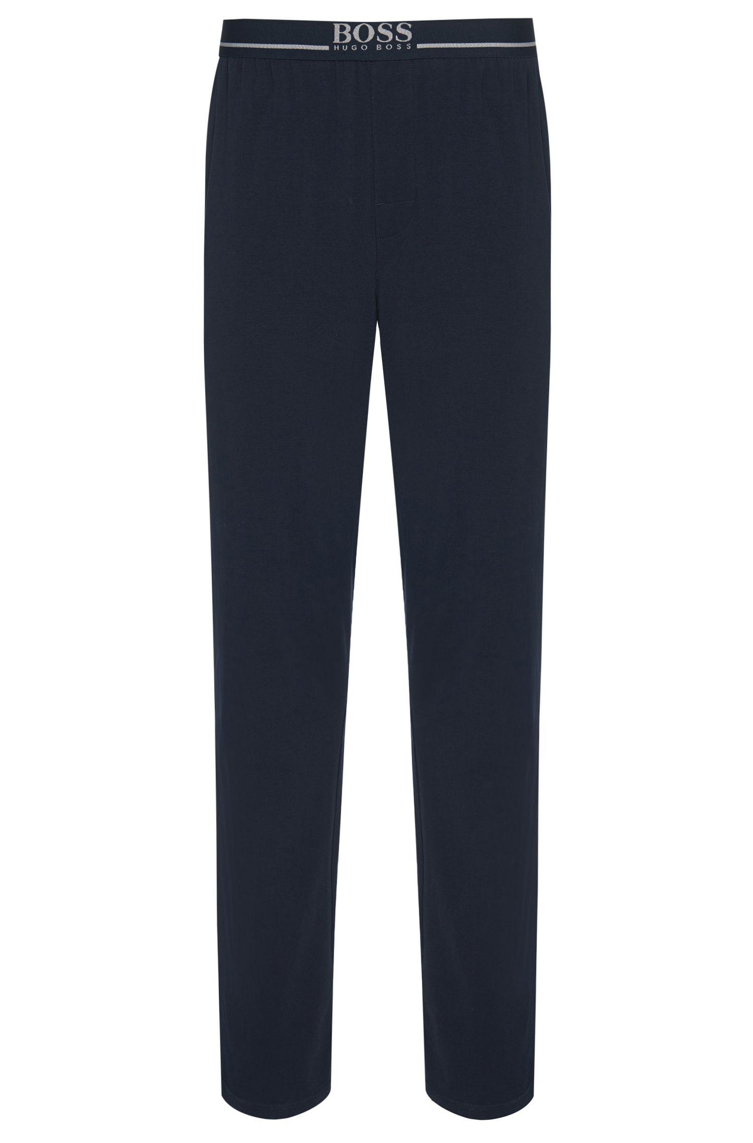 Jogging-Hose aus elastischem Baumwoll-Jersey, Dunkelblau
