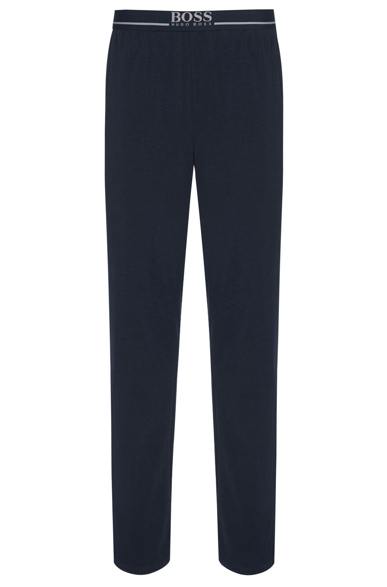 Loungewear trousers in stretch cotton jersey