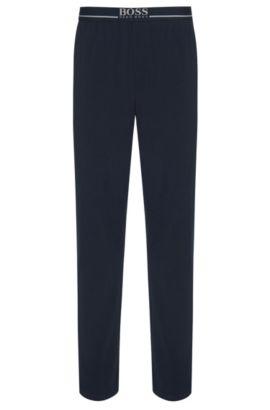 Loungewearbroek van katoenen jersey met stretch, Donkerblauw